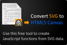 SVG to HTML5 Canvas converter.
